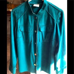 Chico faux suede jacket in emerald green soft!